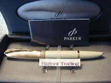 Parker 100 Fountain Pen Honey White GT Medium Nib New Old Stock
