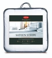 TONTINE Hotel Collection Sateen Stripe All Seasons Quilt Queen/King NEW