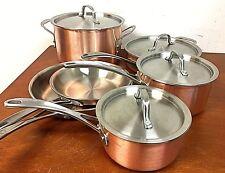 Calphalon Tri-ply Copper 10-piece Cookware Set, Brown - 8P_36