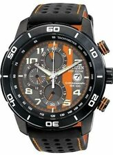 CITIZEN MEN'S #CA0467-11H PRIMO ECO-DRIVE BNIB WATCH BLACK POLYURETHANE SS F/SH