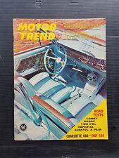 Motor Trend Aug 1963 Plymouth Comet  Dodge Polar 500 - Chrysler Imperial VW 1500