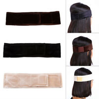 Women Flexible Velvet Wig Grip Scarf Headband Adjustable Fastener Hair Band US