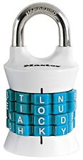 Master Lock Padlock, Set Your Own Word Combination Lock, 1-1/2 in Wide, Assorted