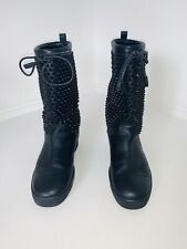 Christian louboutin Studded Leather Snow Boots UK 41.5