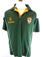 KUKRI BEDDAU YOUTH RFC Mens Rugby Shirt L Large Green Polyester