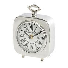 Libra - Austin Square Silver Nickel Carriage Clock