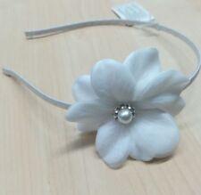 CERCHIETTO bianco accessori capelli cerimonia o PRIMA COMUNIONE perla e  strass 0ced2289ebec
