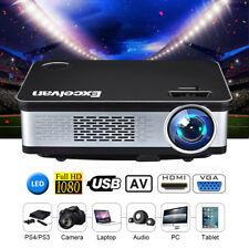 6000Lumen FULL HD 1080P LED 3D Heimkino Beamer Projektor für iPHONEX/8 Sumnsung