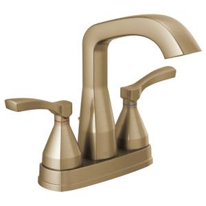 Delta Faucet 25776-CZMPU-DST STRYKE Faucet Centerset, Champagne Bronze