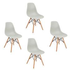 4er Grau Stuhl Wohnzimmerstuhl Esszimmerstuhl Kunststoff Bürostuhl gartenstü