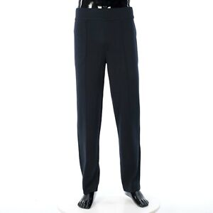 LORO PIANA 1750$ Navy Blue Berger Pants In Ultra Soft Knitted Wish Wool