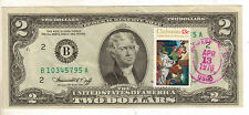 1976 $2 FRN, 1st Day Issue, New York, with Stamp, Uncirculated, (X-153)