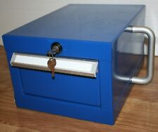 Heavy Duty Steel Tool Chest or Lock Box with Single Locking Drawer