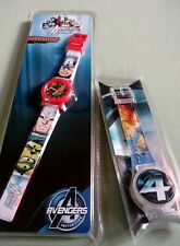 BNIB 2 KIDS WATCHES MARVEL AVENGERS & FANTASTIC FOUR SPECIAL PROMOTION WATCH