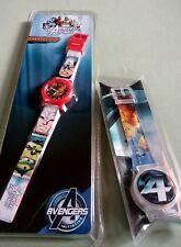 Nuevo Y En Caja 2 Niños Relojes MARVEL VENGADORES & cuatro fantásticos Reloj de promoción especial
