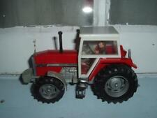 BRITAINS #9501 - MASSEY FERGUSON 3680 TRACTOR - WITH DRIVER - A CRACK IN CAB -