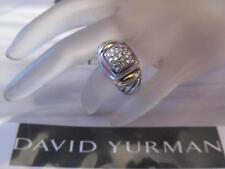 David Yurman Pave Diamond 18K Gold & Sterling Silver Ring