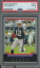 2004 Bowman #106 Tom Brady New England Patriots PSA 9 MINT