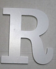 White Letter R Shaped Wooden Wall Décor - Wall Decoration