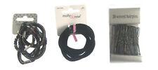 Un Pack de Noir Cheveux Pins Wavey et Pretty Cheveux Élastiques ( Cdd )