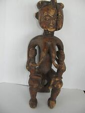 ANTIQUE/VINTAGE  AFRICAN  FEMALE WOOD SCULPTURE