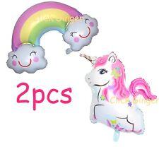 Jumbo Unicorn + Smiley Rainbow Jumbo Foil Balloon Helium Quality Balloons (2pcs)
