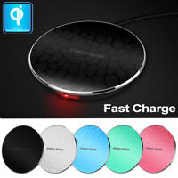 Qi Wireless Charging Charger Pad for Apple iPhone X 8/Plus SAMSUNG Galaxy Note 8