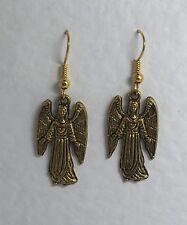 LOVELY SAMUEL ANGEL EARRINGS GOLD PLATED LOVE HEART M9