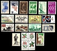 1964 Year Set of 20 Commemorative Stamps Mint NH - Stuart Katz