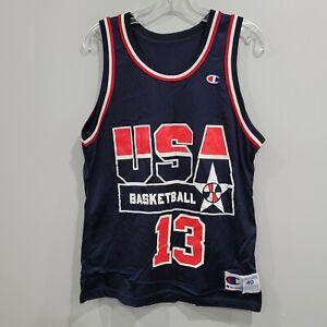 VTG Champion USA Olympics Dream Team Shaquille Shaq O'Neal 13 Jersey Men 40 M