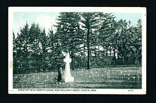 Peosta Iowa IA c1915 Monestary Cemetery, Abbot's Grave, New Melleray Abbey