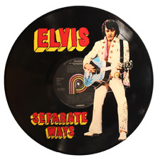 Elvis- Separate Ways- Hand-Painted Recycled Vinyl Record Art -BENEFITS CHARITY