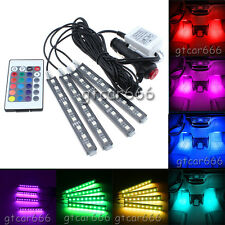 Full Color Glow Car LED Lihgt Interior Kit Under Dash Footwell Inside Lighting