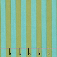 By 1/2 Yard ~ Free Spirit Tula Pink Fabric All Stars ~ Tent Stripe in Agave