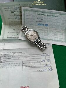 """Rolex Mens Datejust 1603 Stainless Steel Rare """"Linen Dial"""" Automatic 1971"""