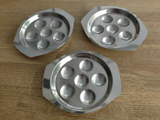 Devilled eggs platter tray Hors d'oeuvre canapés Stainless Steel Mid century