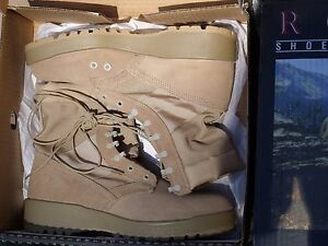 Rocky 789 Military Army Desert Tan Hot Weather Combat Boots 12.5 R Made in USA