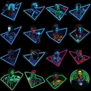 Stickerbomb set 49 neon super hero stickers laptop skateboard car marvel