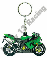 Kawsaki ZX 10 R rubber key ring motor bike cycle gift keyring chain green ZX10R
