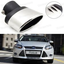 Silver Car Exhaust Muffler Tip Tail Pipe End Trim for Ford Focus 2011-2016 #5017