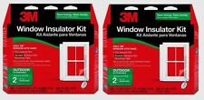 "Lot/2 3M 2 - 3'x5' OUTDOOR Window Insulator Kit Clear Film 62""x84"" Draft 2170W6"
