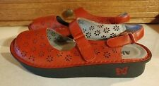 Alegria Jemma Red EURO 39 / US 9 Leather Mary Jane Perforated Slingback Shoes
