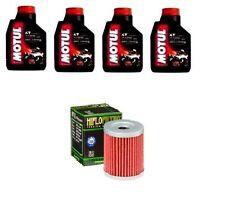 KIT OLIO 4 LT MOTUL 7100 10W40+FILTRO HF132 Suzuki DR-Z125 K3-K9,L0-L6  03-16