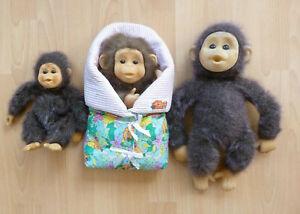 Vintage Hosung Little Monkey Lost bundle bet of 4 soft plush toys puppet