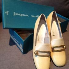 Joyce Vintage1960s Women's Pumps~yellow with gold buckle~ Size 7.5M in orig box