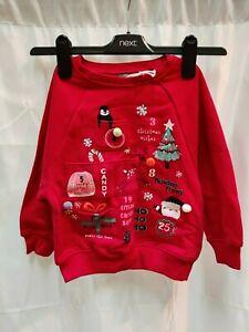 NEXT - Kids Christmas Xmas Jumper Sweatshirt - 3-4 Years - (KJ-4)