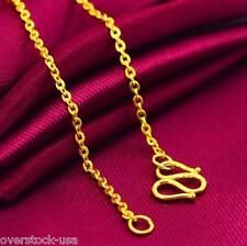 NEW 17.3INCH Solid 24K Yellow Gold Necklace O Link Chain / 3~4G