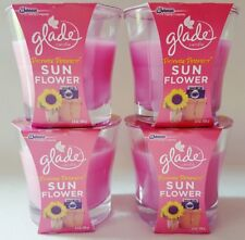 4 GLADE PICTURE PERFECT SUN FLOWER SCENTED WAX PINK CANDLES  3.8 OZ EA NEW