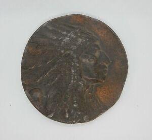 ROBBINS & CO. Native American BRONZE Medallion.