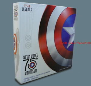 Hasbro Marvel Legends Captain America 75th Anniversary 1:1 Metal Shield IN STOCK